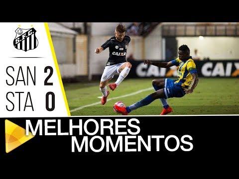 Santos 2 x 0 Santo André | MELHORES MOMENTOS | Paulistão (25/02/18)