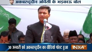 Akbaruddin Owaisi Hatred Speech, Attacks PM Modi over