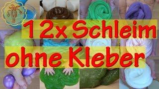 12 x Schleim ohne Kleber und ohne Peel-off-Masken - Slime-DIY