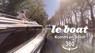 Le Boat | 360° Video Hausboot Horizon auf dem Canal du Midi