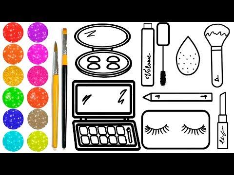Como Desenhar Kit De Maquiagem Completo Pintando Desenhos Draw
