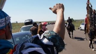 Raw: Native Tribe Protests N.D. Pipeline