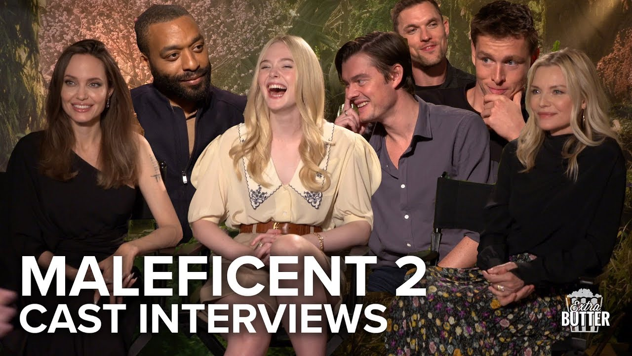 Maleficent Mistress Of Evil Cast Interviews Angelina Jolie Michelle Elle More Extra Butter