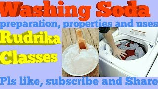 Washing soda with preparation, properties and uses.