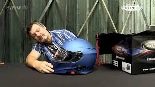 BLUETOOTH FLIP TOP MOTORBIKE ROAD CRASH UPGRADED HELMET VIPER NEW RSV131BL