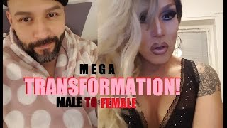 TRANSFORMATION! Bearded GUY turns to FABULOUS DRAG QUEEN!!