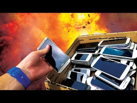 Can Explosive Cutting Tape Slice 50+ Android Phones at Once? Original Value $30,000+!