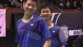 Badminton 渡辺,三橋 富岡高 vs 古賀,齋藤 早大 MD 2回戦 2G 全日本総合バドミントン選手権 2015.12.3 thumbnail