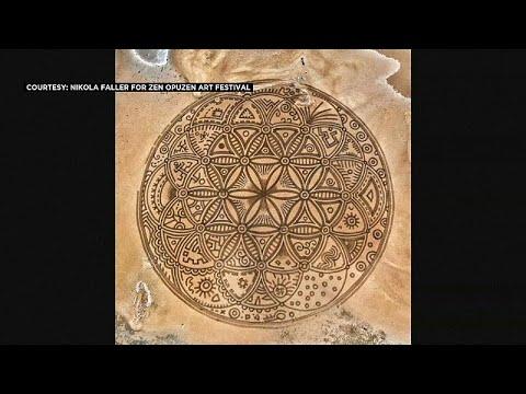 شاهد: فنان كرواتي يرسم أشكالاً هندسية رائعة وبالغة التعقيد على الرمل …  - 13:53-2019 / 7 / 14