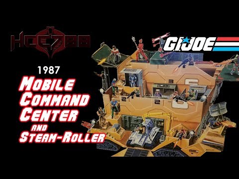 HCC788 - 1987 MOBILE COMMAND CENTER and STEAM-ROLLER Vintage G.I. Joe toy review!