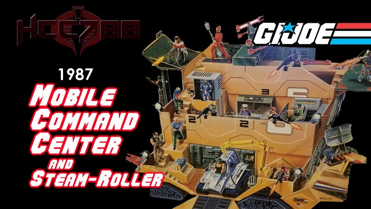 Hcc788 1987 Mobile Command Center And Steam Roller Vintage G I Joe Toy Review Youtube