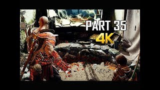GOD OF WAR Gameplay Walkthrough Part 35 - CURE (PS4 PRO 4K Commentary 2018)