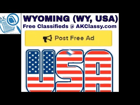 WYOMING CLASSIFIEDS Post Free Ads Online (Pets/Cars Rentals/Personal/Jobs) AKClassy Craigslist USA