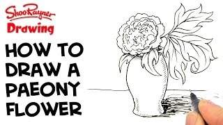 How to draw a Paeony - Peony - Flower
