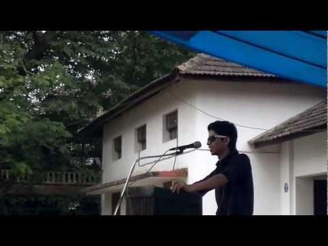Meet the candidate speech AJAZ (UC college aluva)