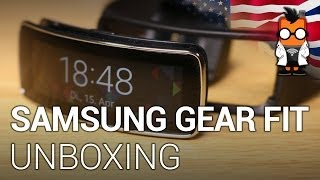 Samsung Gear Fit smartwatch unboxing & overview - English