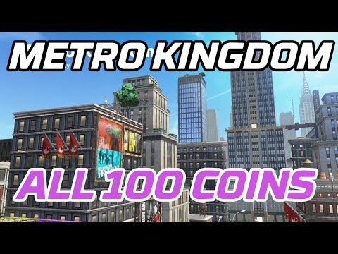 [Super Mario Odyssey] All Metro Kingdom Coins (100 Purple Local Coins)