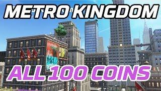 [Super Mario Odyssey] All Metro Kingdom Coins (100 purple local coins)