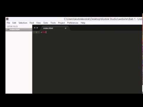 Tutorial HTML : Create title and favicon by Angga Freelancer