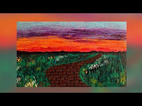 "-""Path Unknown"" Abstract Landscape Painting Demonstration 