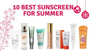 10 Best Sunscreen Cream For Summers| Latest Sunscreen 2018 infohub Cosmetics Review