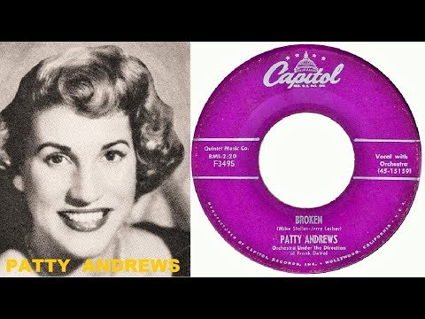 PATTY ANDREWS - Broken / Too Old To Rock 'N Roll (1956)