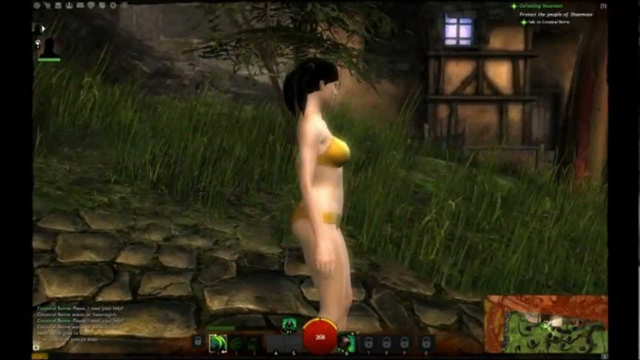 Guild wars nude mod gets fucked while