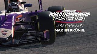 Martin Krönke wins the 2016 iRacing World Championship GP Series
