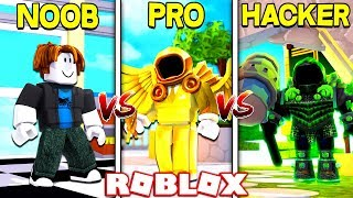 NOOB VS PRO VS HACKER IN ROBLOX!