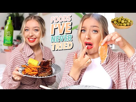 Eating Foods I Have NEVER Tried for 24 Hours!
