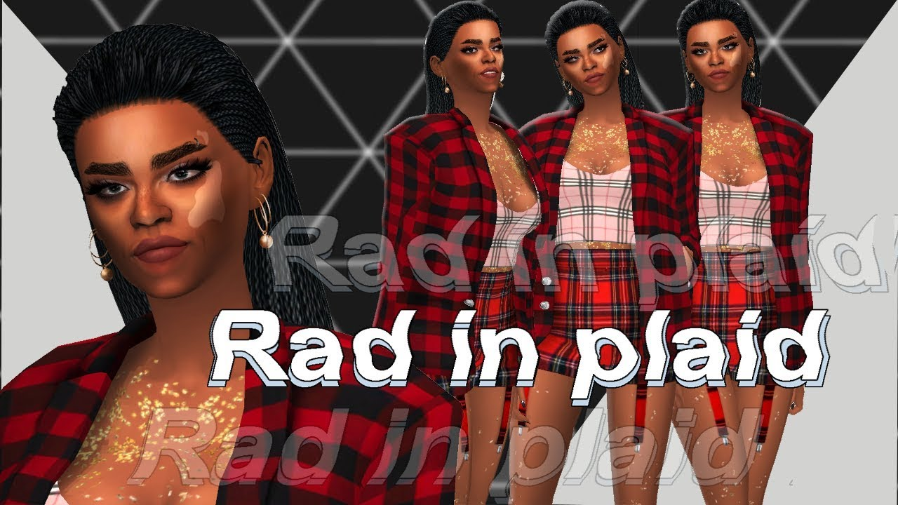 RAD IN PLAID TAG || The Sims 4 w/ FULL CC LIST - YouTube