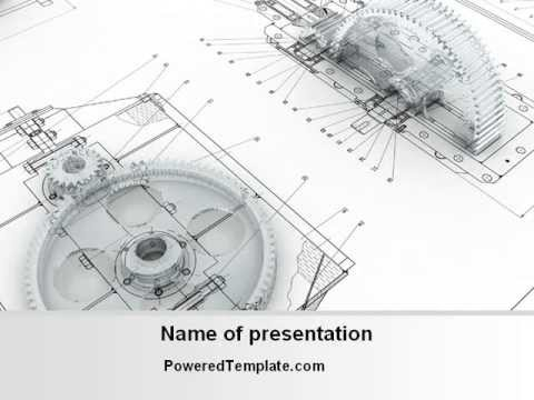 engineering drawing powerpoint template by poweredtemplate