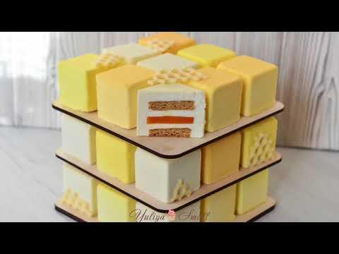 Торт Кубик Рубика, МК - У самовара - Украшение тортов 69