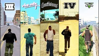 SBS Comparison of ALL GTA games! (GTA 3 vs VC vs SA vs IV vs V)