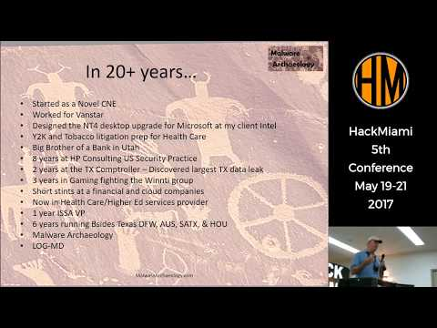 Hackmiami Conference 2017 Keynote day 1 by Michael Gough