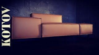 How to make a sofa. designer sofa DS-21 replica. timelapse.