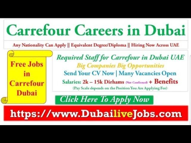 Carrefour Careers In Dubai Supermarket Jobs In Dubai Dubai Video