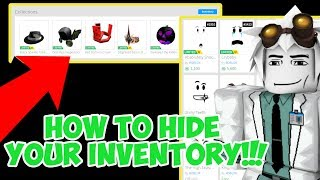 How to make your Roblox Inventory Private!