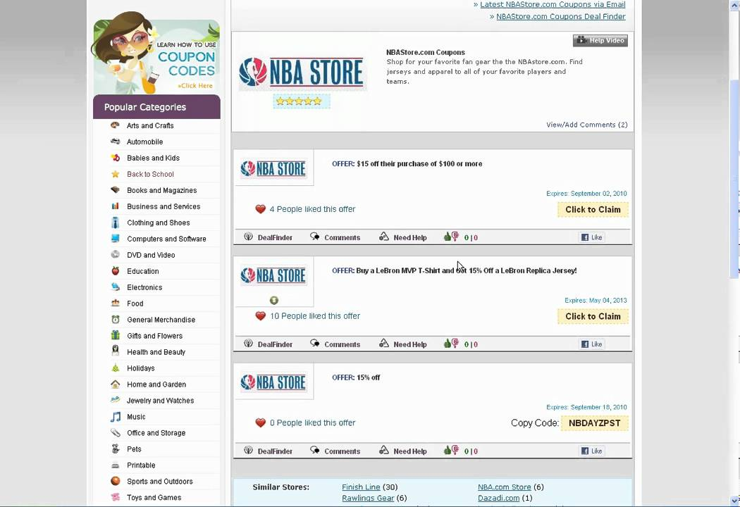 2e7878b6c44 How To Use NBA Store Coupon Codes - YouTube