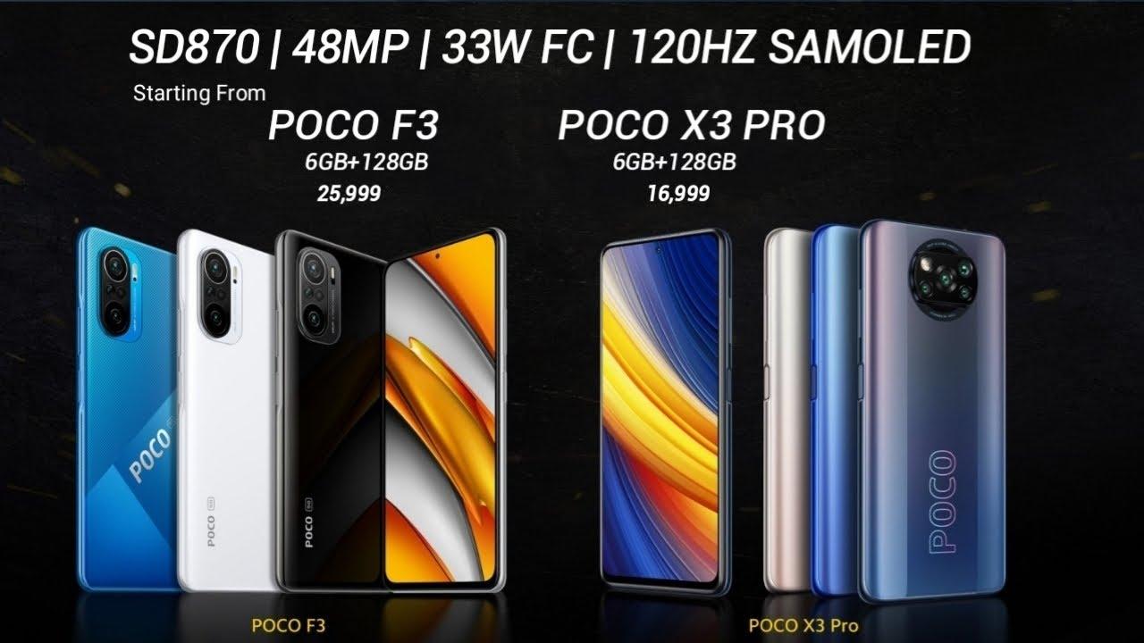 Poco X3 Pro and Poco F3