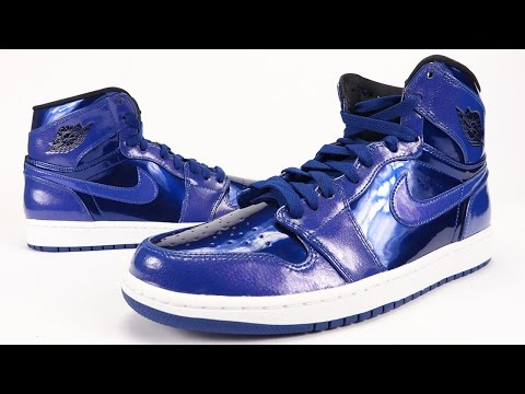 7e2fb079a732 Air Jordan 1 High Deep Royal Blue Patent Leather Review + On Feet -  Duration  7 29. SneakerFiles.com 4
