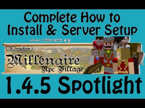 Millenaire Mod 1.4.5 SMP Update How To Install & Setup Server Spotlight