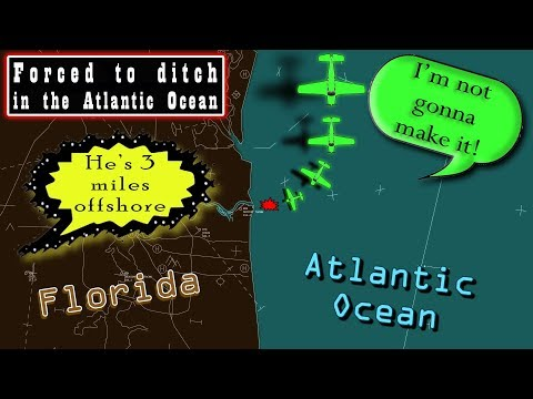 Bonanza FORCED TO DITCH in the Atlantic | PILOT SURVIVED AND RESCUED!
