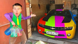Mr. Joe & Red Man found Colored Bottle & Change Colors Car Chevy Camaro Challenge 13+