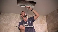 How to install Rectangular Ceiling-Mounted Showerhead Model G-8245-SP