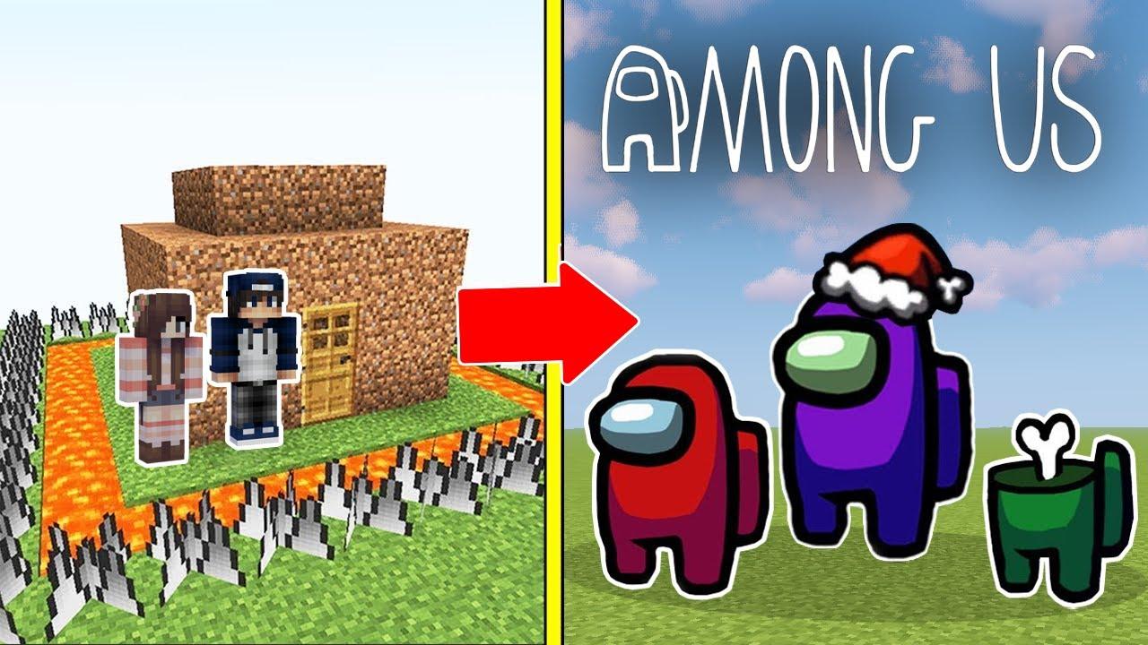 Among Us Tấn Công Nhà Được Bảo Vệ Bởi bqThanh và Ốc Trong Minecraft