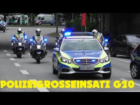 [GROSSEINSATZ G20 HAMBURG] POLIZEI AUS DER EU UND VIP ESKORTEN
