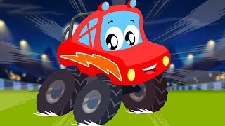 Little Red Car | Monster Truck Dan | We Are The Monster Trucks | Compilation Video For Kids