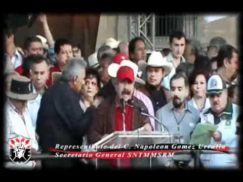 El SNTMMSRM en la Marcha del Frente Clasista por la Soberania Alimentaria y Energetica31-01-2011