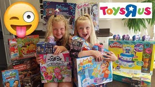 Toys R Us Shopping for toys to make our YouTube kids videos Toy Haul  Hannah and Jessica